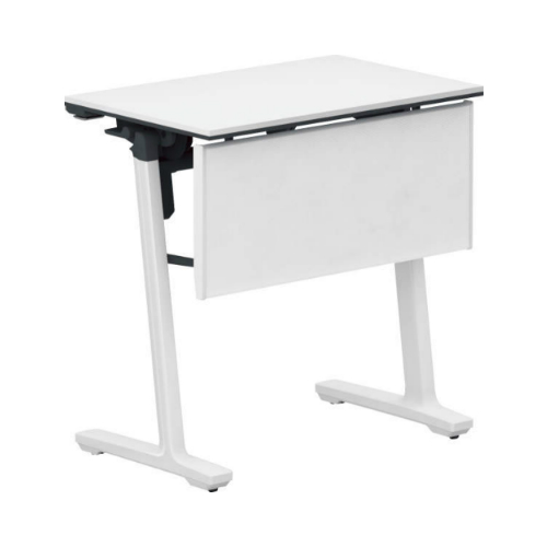 コクヨ ミーティングテーブル 研修施設用テーブル パネル付き/棚なし SAW(ホワイト)塗装脚 KT-PJ147SAWPAWNN