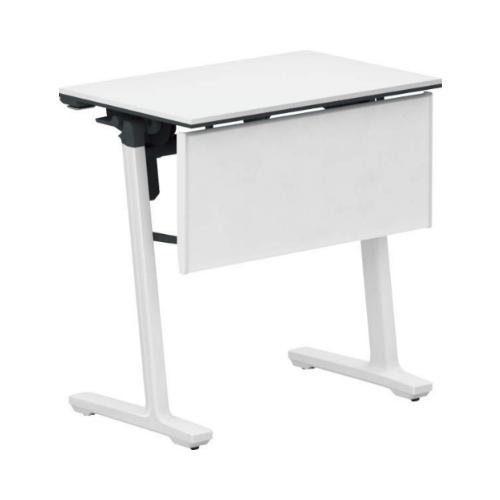 コクヨ 研修施設用テーブル カーム フラップテーブル パネル付き/棚なし SAW(ホワイト)塗装脚 KT-PJ147SAWPAWNN