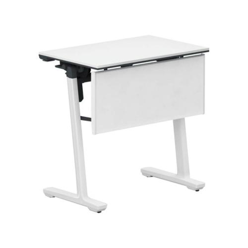 コクヨ ミーティングテーブル 研修施設用テーブル パネル付き/棚付き SAW(ホワイト)塗装脚 KT-PJS147SAWPAWNN