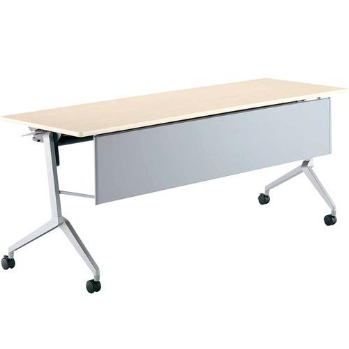 コクヨ リーフライン フラップテーブル パネル付きタイプ 棚付き W1800×D600×H720mm KT-PS1201