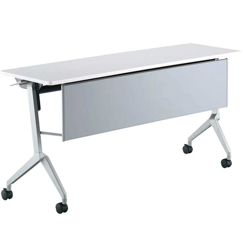 コクヨ リーフライン フラップテーブル パネル付きタイプ 棚付き W1500×D450×H720mm KT-PS1202