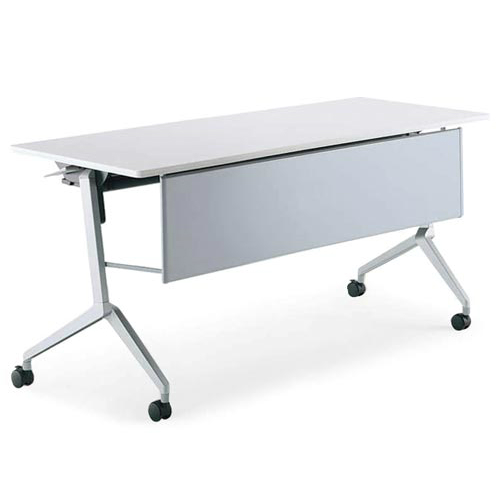 コクヨ リーフライン フラップテーブル パネル付きタイプ 棚付き W1500×D600×H720mm KT-PS1203