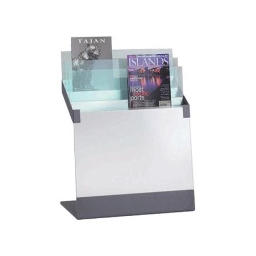 オカムラ ガラスアクセサリー マガジンラック 雑誌架  W590×D350×H760 L974GB-H96