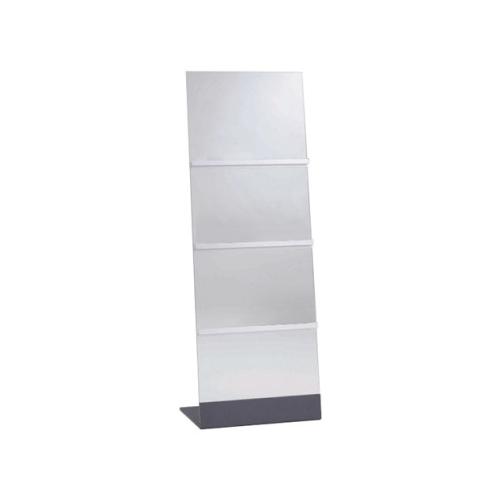 オカムラ パンフレットスタンド(パンフレットラック)  ガラスアクセサリー W500×D350×H1400 3段 L974GE-H96