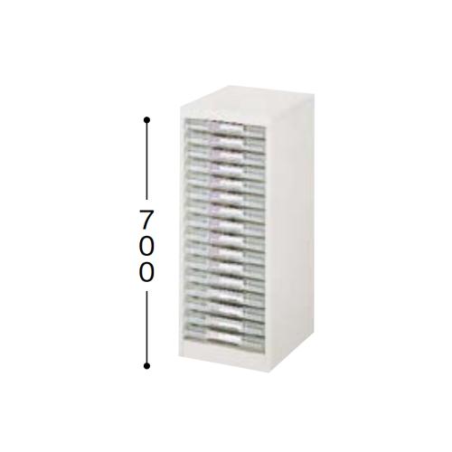 ナイキ パンフレットケース A4タイプ 1列浅型16段 A4縦用 W277×D350×H700mm LCA116D-A4-W