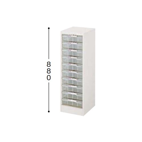 ナイキ パンフレットケース B4タイプ 1列深型10段 B4縦用 W315×D400×H880mm LCB110D-B4-W