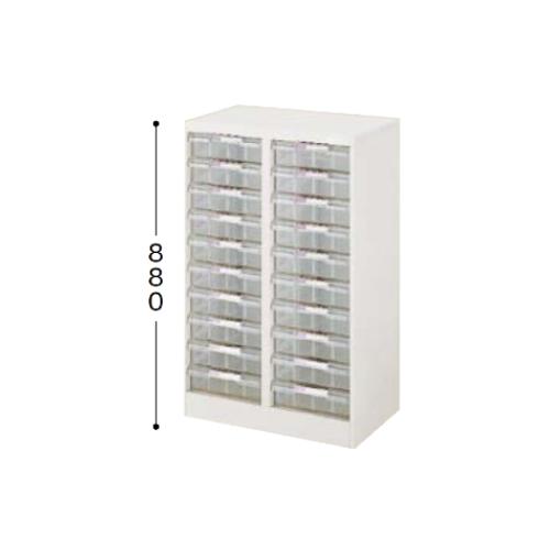 ナイキ パンフレットケース B4タイプ 2列深型10段 B4縦用 W629×D400×H880mm LCB210D-B4-W
