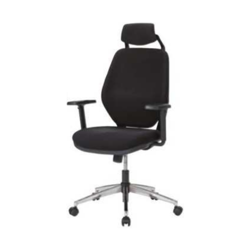 井上金庫 LUX/Office chair 肘付 スチールメッキ脚 LAX-39M+MT01+LUX-H