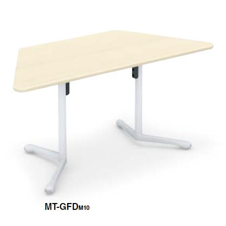 コクヨ キャンパスアップ ミーティングテーブル Campus up 台形フラップテーブル W1530×D695×H720 MT-GFDPAW/MT-GFDM10