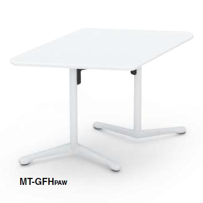 コクヨ KOKUYO キャンパスアップ ミーティングテーブル Campus up フラップテーブルひし形フラップテーブル W1290×D785×H720 MT-GFHPAW/MT-GFHM10
