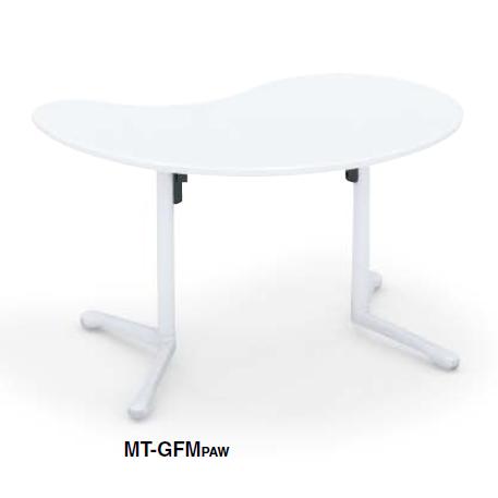コクヨ KOKUYO キャンパスアップ ミーティングテーブル  Campus up フラップテーブル勾玉形フラップテーブル W1240×D760×H720 MT-GFMPAW/MT-GFMM10