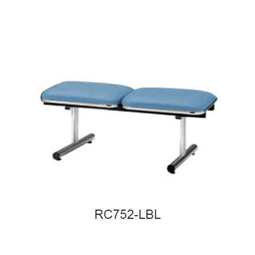 ナイキ ロビーチェア ロビーシリーズ75 2人掛 ビニールレザー張り W1005×D500×H410 RC752