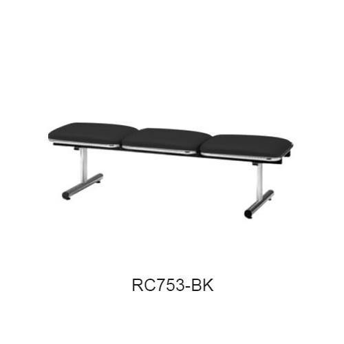 ナイキ ロビーチェア ロビーシリーズ75 3人掛 ビニールレザー張り W1510×D500×H410 RC753