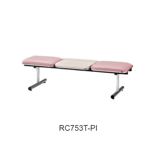 ナイキ ロビーチェア ロビーシリーズ75 2人掛 テーブル付 ビニールレザー張り W1510×D500×H410 RC753T