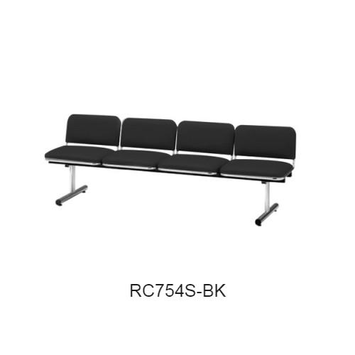 ナイキ ロビーチェア ロビーシリーズ75 4人掛 ビニールレザー張り W2015×D540×H660 RC754S