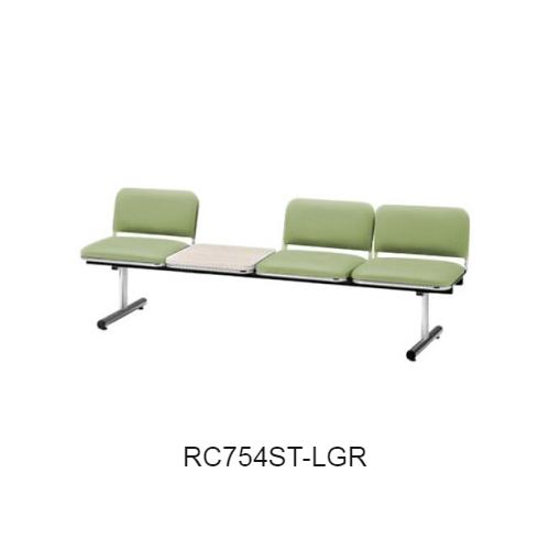 ナイキ ロビーチェア ロビーシリーズ75 3人掛 テーブル付 ビニールレザー張り W2015×D540×H660 RC754ST