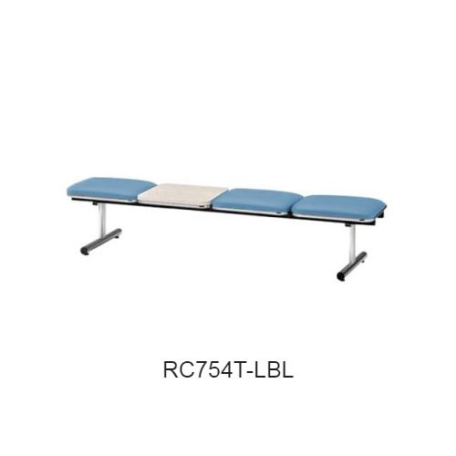 ナイキ ロビーチェア ロビーシリーズ75 3人掛 テーブル付 ビニールレザー張り W2015×D500×H410 RC754T
