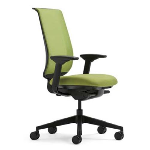 スチールケース Steelcase オフィスチェア Reply リプライチェア 単色タイプ/ブラック樹脂脚 HPD肘付 5-318-20**
