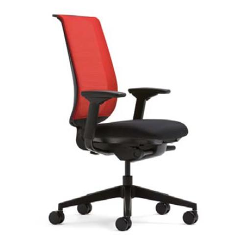 スチールケース Steelcase オフィスチェア Reply リプライチェア ツートンタイプ/ブラック樹脂脚 HPD肘付 5-318-2*01