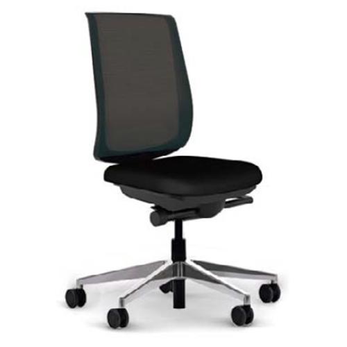 スチールケース Steelcase オフィスチェア Reply リプライチェア 単色タイプ/アルミポリッシュ脚 肘なし 5-318-0801