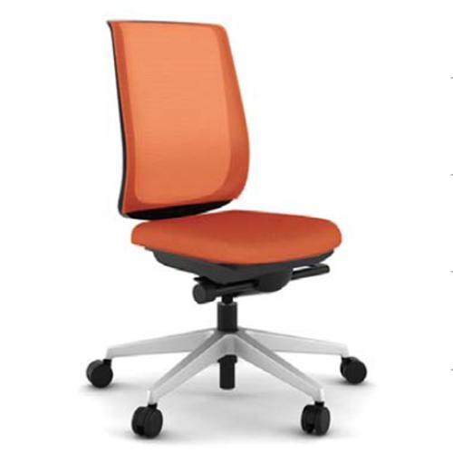 スチールケース Steelcase オフィスチェア Reply リプライチェア 単色タイプ/プラチナム脚 肘なし 5-318-10**