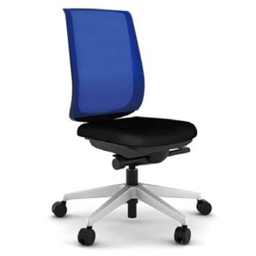 スチールケース Steelcase オフィスチェア Reply リプライチェア ツートンタイプ/プラチナム脚 肘なし 5-318-1*01