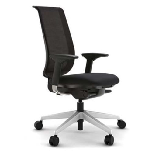 スチールケース Steelcase オフィスチェア Reply リプライチェア 単色タイプ/プラチナム脚 HPD肘付 5-318-30**