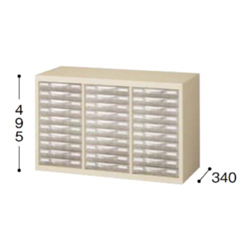 ナイキ パンフレットケース A4タイプ 浅型3列10段 W777×D340×H495mm SMC310S-A4
