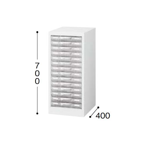 ナイキ パンフレットケース B4タイプ 1列 浅型14段 W311×D400×H700mm STD114S-B4-WH