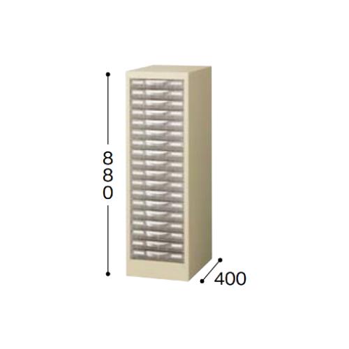 ナイキ パンフレットケース A4タイプ 1列浅型18段 W277×D400×H880mm STD118S-A4
