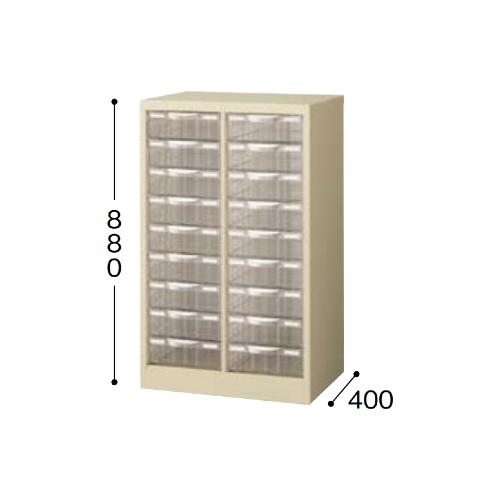 ナイキ パンフレットケース A4タイプ 2列深型9段 W527×D400×H880mm STD209L-A4