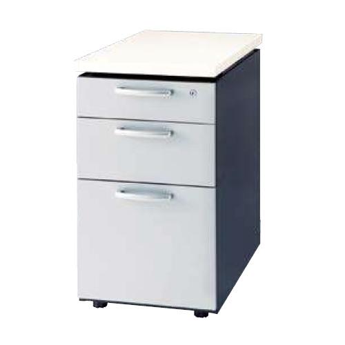 ナイキ ウエイク(テーブルシステムWK型) 脇デスク W400×D700×H700 シリンダー錠 WK047B-SVH/WK047B-SVS