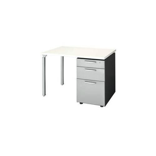 ナイキ ウエイク(テーブルシステムWK型) 片袖テーブル W1000×D700×H700 シリンダー錠 WK107B-SVH/WK107B-SVS
