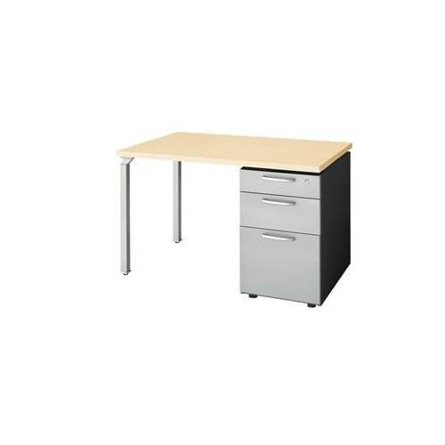 ナイキ ウエイク(テーブルシステムWK型) 片袖テーブル W1100×D700×H700 シリンダー錠 WK117B-SVH/WK117B-SVS