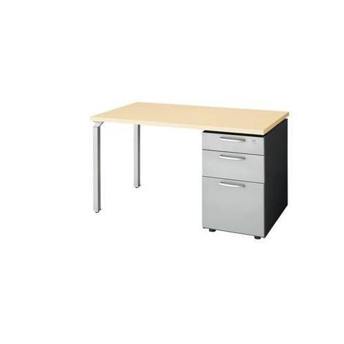 ナイキ ウエイク(テーブルシステムWK型) 片袖テーブル W1200×D700×H700 シリンダー錠 WK127B-SVH/WK127B-SVS