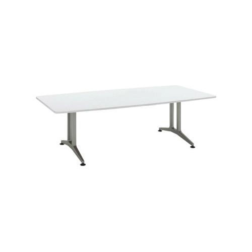 コクヨ 応接会議用テーブル ボート形 メラミン 配線なし WT-200シリーズ W2400×D1200×H720 WT-210