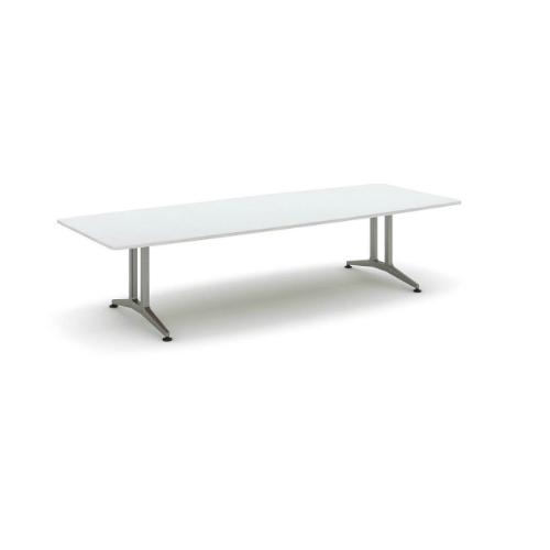 コクヨ 応接会議用テーブル ボート形 メラミン 配線なし WT-200シリーズ W3200×D1200×H720 WT-211
