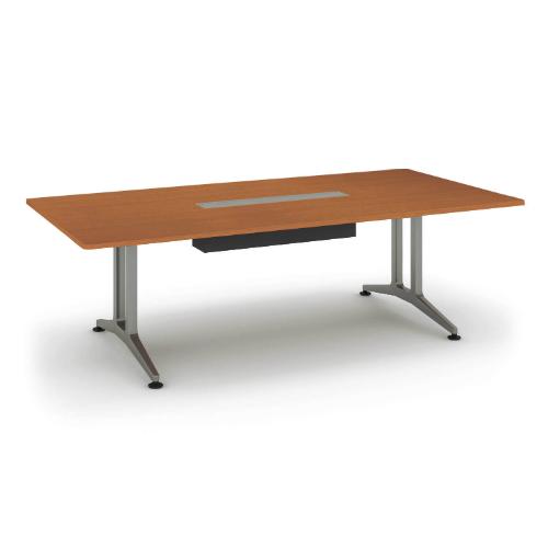 コクヨ 応接会議用テーブル 角形 メラミン 配線付き WT-200シリーズ W2400×D1200×H720 WT-B200