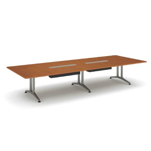 コクヨ 応接会議用テーブル 角形 メラミン 配線付き WT-200シリーズ W4000×D1500×H720 WT-B202