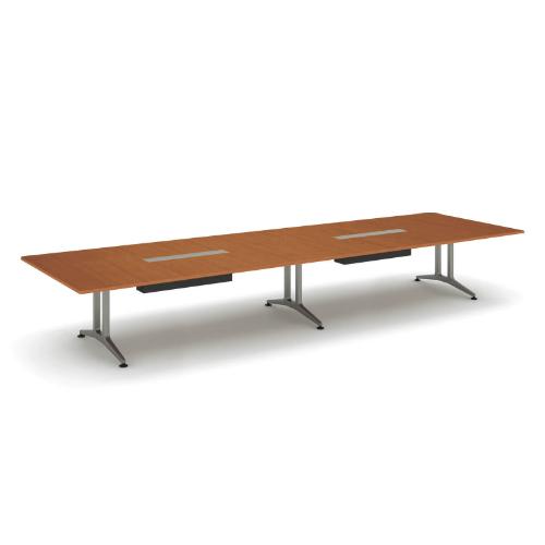 コクヨ 応接会議用テーブル 角形 メラミン 配線付き WT-200シリーズ W4800×D1500×H720 WT-B203