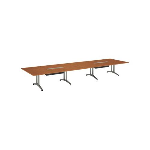 コクヨ 応接会議用テーブル 角形 メラミン 配線付き WT-200シリーズ W5600×D1500×H720 WT-B204