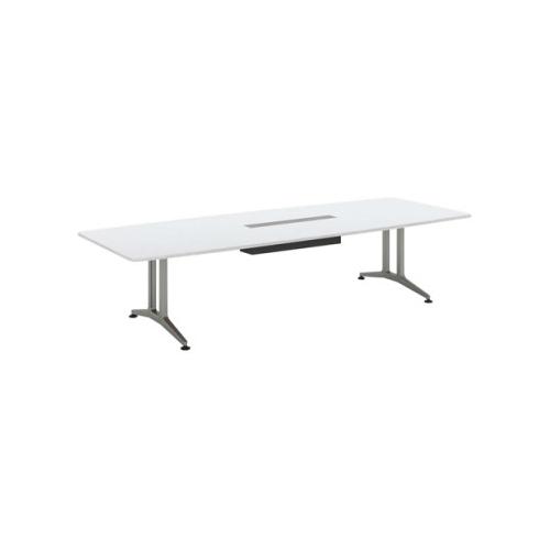 コクヨ 応接会議用テーブル ボート形 メラミン 配線付き WT-200シリーズ W3200×D1200×H720 WT-B211