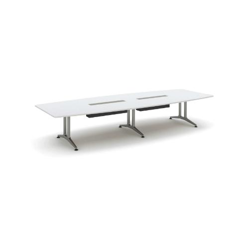 コクヨ 応接会議用テーブル ボート形 メラミン 配線付き WT-200シリーズ W4000×D1500×H720 WT-B212