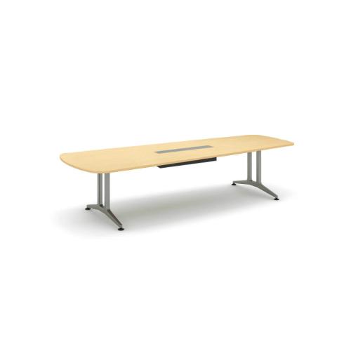 コクヨ 応接会議用テーブル ウィング形 メラミン 配線付き WT-200シリーズ W3200×D1200×H720 WT-B221
