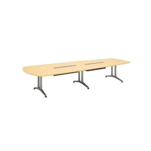 コクヨ 応接会議用テーブル ウィング形 メラミン 配線付き WT-200シリーズ W4000×D1550×H720 WT-B222