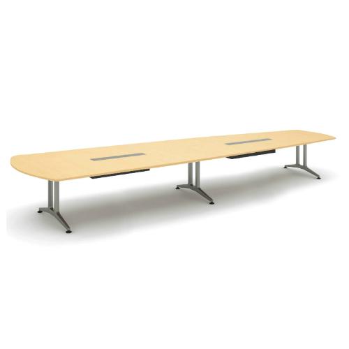 コクヨ 応接会議用テーブル ウィング形 メラミン 配線付き WT-200シリーズ W4800×D1600×H720 WT-B223
