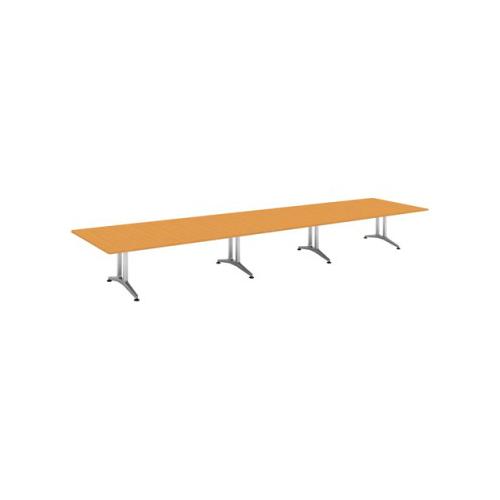 コクヨ 応接会議用テーブル 角形 突板 配線なし WT-200シリーズ W6400×D1500×H720 WT-W205
