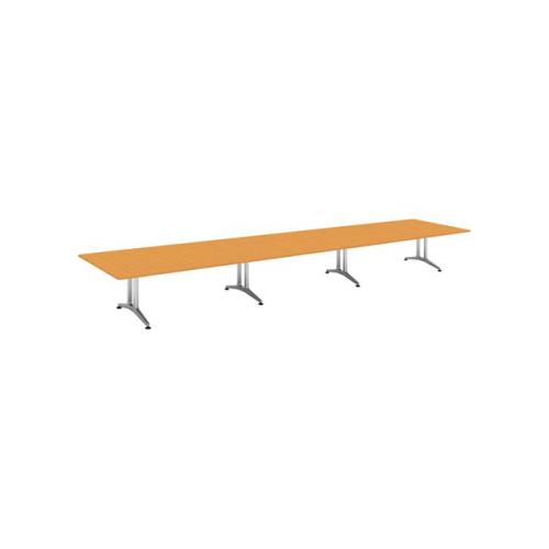 コクヨ 応接会議用テーブル 角形 突板 配線なし WT-200シリーズ W7200×D1500×H720 WT-W206