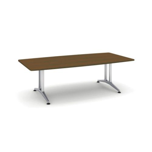 コクヨ 応接会議用テーブル ボート形 突板 配線なし WT-200シリーズ W2400×D1200×H720 WT-W210