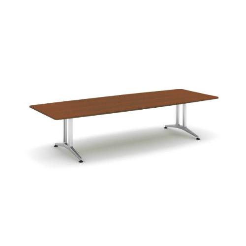コクヨ 応接会議用テーブル ボート形 突板 配線なし WT-200シリーズ W3200×D1200×H720 WT-W211